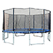 Exacme TUV Approved Trampoline with Safety Pad & Enclosure Net & Ladder All in One Combo Set