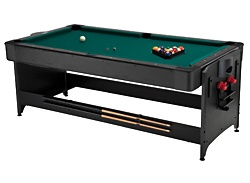 Fat Cat Pockey 7ft Black 3-in-1 Table