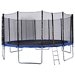 Giantex 15 FT Trampoline Combo Bounce Jump Safety Enclosure Net with Spring Pad