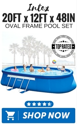 Intex 20ft x 12ft x 48in Oval Frame Pool Set