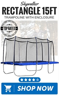 Skywalker Rectangle 15ft Trampoline with Enclosure