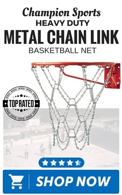 Champion Sports Heavy Duty Metal Chain Link Basketball Net
