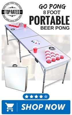 GoPong 8 Foot Portable Beer Pong