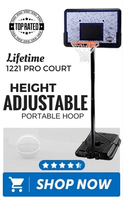 Lifetime 1221 Pro Court Height Adjustable Portable Hoop