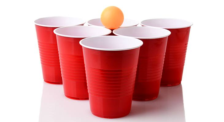 giant beer pong cups