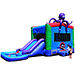 JumpOrange Commercial Grade Octopus WetDry Inflatable Bouncy House and Slide Combo