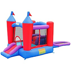 Tent and Table Inflatable Pogo Magic Castle Water Slide Bounce House with Blower