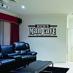 Personalized Name Cave Wall Decal